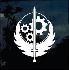 Fallout Brotherhood Of Steel Logo Window Decal Sticker Custom Sticker Shop