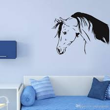 Dim Horse Bowed His Head Wall Decal Living Room Decal Removable Solid Wall Stickers Vinilos Paredes Special Animal Poster Stickers For Home Stickers For Home Decoration From Onlinegame 12 66 Dhgate Com