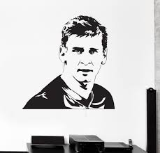Barcelona Lionel Messi Wall Decal Vinyl Art Football Soccer Player Wall Stickers Kids Nursery Drop Service Waterproof Diy White Vinyl Wall Decals White Wall Decals From Joystickers 11 67 Dhgate Com