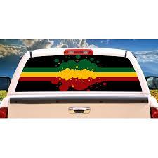 Upc 016463443803 Rasta Flag Rear Window Graphic Back Truck Decal Suv View Thru Vinyl Upcitemdb Com