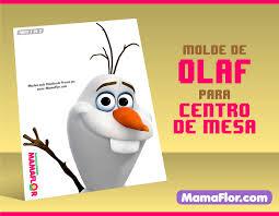 Moldes De Frozen Olaf Centro De Mesa Para Imprimir Parte 1