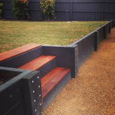 retaining walls geelong timber