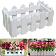 Qoo10 Wooden Fence Flower Pot Hanging Garden Basket Planter Plant Container Baby Maternity
