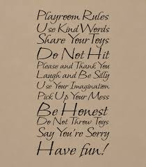 Playroom Rules Wall Decal Trading Phrases