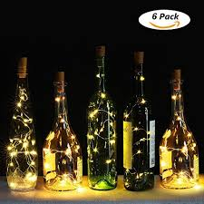 genround wine bottle cork lights 6
