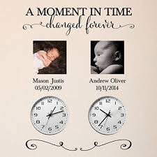 Amazon Com A Moment In Time Changed Forever Vinyl Wall Decal By Wild Eyes Signs Photo Picture Wall Sticker Lettering With Set Of Names And Dates Custom Read Product Description Below For Size