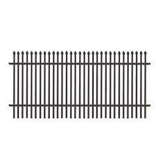 Freedom Black Metal Fence Panels At Lowes Com