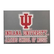 Indiana Hoosiers Color Shock Iu Jacobs School Of Music Car Decal Indiana University Indiana University