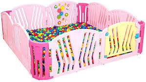 Baby Fence Toddler Safety Play Area Gate Kids Barrier Safety Plastic Child Protection Amazon Co Uk Kitchen Home