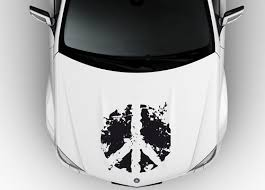Peace Sign Design Car Hood Vinyl Decal Sticker A041 Car Decals Vinyl Vinyl Decal Stickers Vinyl Decals