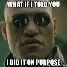 Image result for i did that on purpose