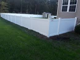 Amechi Fence 4 Ft High Solid White Vinyl Fence With New Facebook