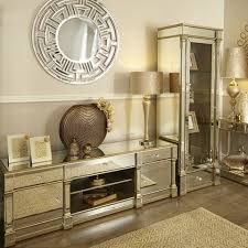 andreas champagne gold trim mirrored 2