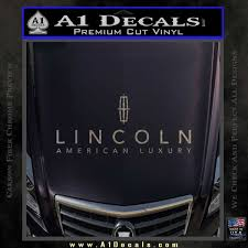 Lincoln Motors Stacked Decal Sticker A1 Decals
