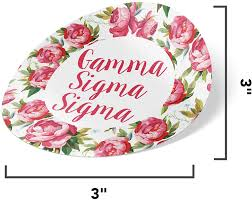 Gamma Sigma Sigma Sorority 3 Inch Circle White Rose Sorority Sticker Decal Greek For Window Laptop Computer Car Gss Walmart Com Walmart Com