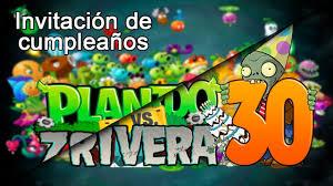 Tutorial De Plantas Vs Zombie Para Una Invitacion De Cumpleanos