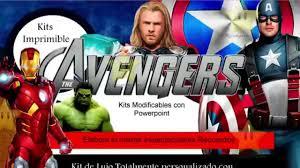 Kit Imprimible Los Vengadores Avengers Decoraciones Cajitas E