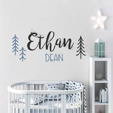 Personalized Name Vinyl Wall Stickers Custom Name Decal For Nursery Kids Name Sign For Bedroom Tree Custom Interior Decal Zw469 Wall Stickers Aliexpress
