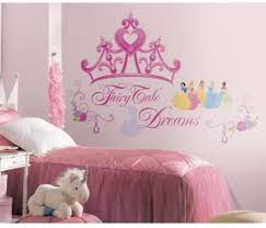 Amazon Com New Bluenew Disney Princess Crown Wall Decals Girls Stickers Pink Bedroom Decor Red Yellow Green Polka Dots Wall Decals Kids Bedroom Stickers Decor Kitchen Dining