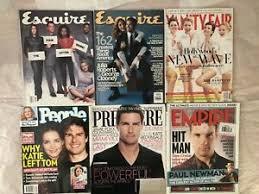 magazine lot Tom Cruise Clooney Vanity Esquire Empire Jonas Adele newman  1999 | eBay