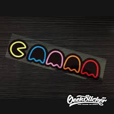 Drop Ship Pacman Car Sticker Reflective Waterproof Cool Decals Modified Accessories Funny Vinyl Car Window Sticker Colorful Stickers Reflective Car Window Stickervinyl Car Aliexpress