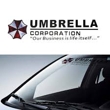 Umbrella Corporation Car Front Rear Windshield Decal Auto Window Styling Sticker Ebay