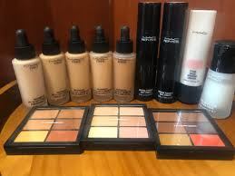 m a c cosmetics almost new whole set