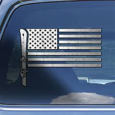 Usa Snow Ski Flag Decal Sticker Mountain Skiing Snow Skier Window Decal Sticker Ebay