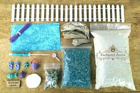 blue beach fairy garden kit large