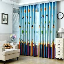 Amazon Com 1 Panel Dining Room Curtains Kids Room Darkening Curtains Room Decor For Childrens Living Room Bedroom Colorful Pencil 39wx84l Everything Else
