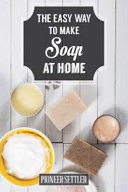 make lye free soap on the homestead