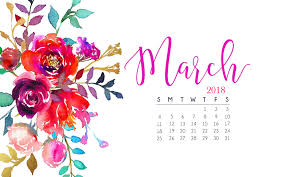 march 2018 calendar for pc ipad