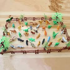 68pcs Set Plastic Farm Yard Wild Fence Tree Animals Model Kids Toys Figures Play Set Toys For Children Kids Adult Toy Figure Set Toystoys For Aliexpress