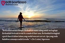 quote dee lestari tentang cinta dan kehidupan terbaik
