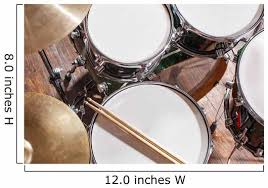Drumsticks Drums Wall Decal Wallmonkeys Com