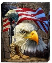 Amazon Com Salute Our Flag Canvas Wall Art American Bald Eagle Usa Flag Patriotic Painting Print For Office Wall Living Room Bedroom Ornament Modern Home Decor Stretched Framed Ready To Hang