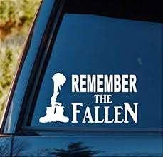 Amazon Com Bluegrass Decals F1055 Remember The Fallen Soldier Decal Sticker Automotive
