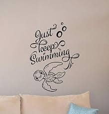 com fsds just keep swimming wall decal finding nemo turtle