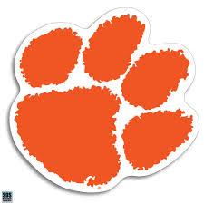 Amazon Com Clemson Tigers Paw Logo Auto Vinyl Decal 3 Sports Outdoors