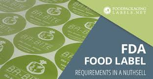 fda food labeling requirements