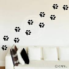 animal paw prints vinyl wall