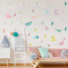 Funlife Dinosaur Wall Stickers For Kids Room Peel And Stick Wall Decals Nursery Children Bedroom Decor Waterproof Wall Murals Wall Stickers Aliexpress