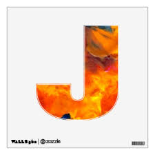 Letter J Wall Decals Stickers Zazzle