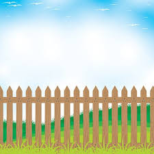 Wooden Fence On A Mountain And Tree Background Clipart Image