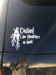 Harry Potter Car Decal Caution Live Mandrakes On Board Love It Harry Potter Decal Cute Harry Potter Harry Potter Car