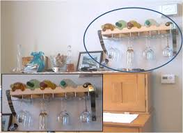 wine glass rack under cabinet plans diy