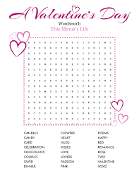 day wordsearch free printable