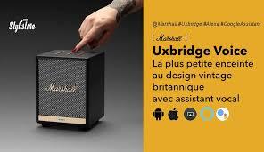 Marshall Uxbridge Voice la mini enceintes Alexa ou Google Assistant