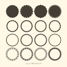 decorative circle frame vectors free