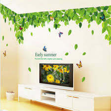 Green Leaf Leaves Vinyl Decal Wall Sticker For Classroom Livingroom School Glass For Sale Online